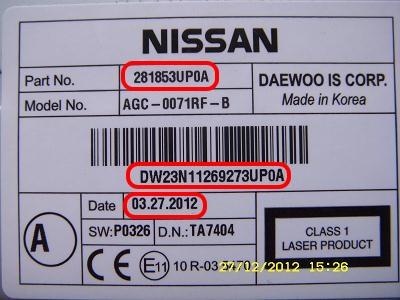 коды ошибок nissan note