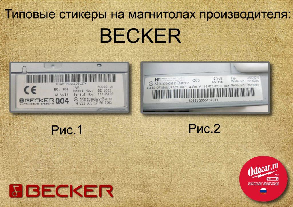 BECKER RADIO CODE