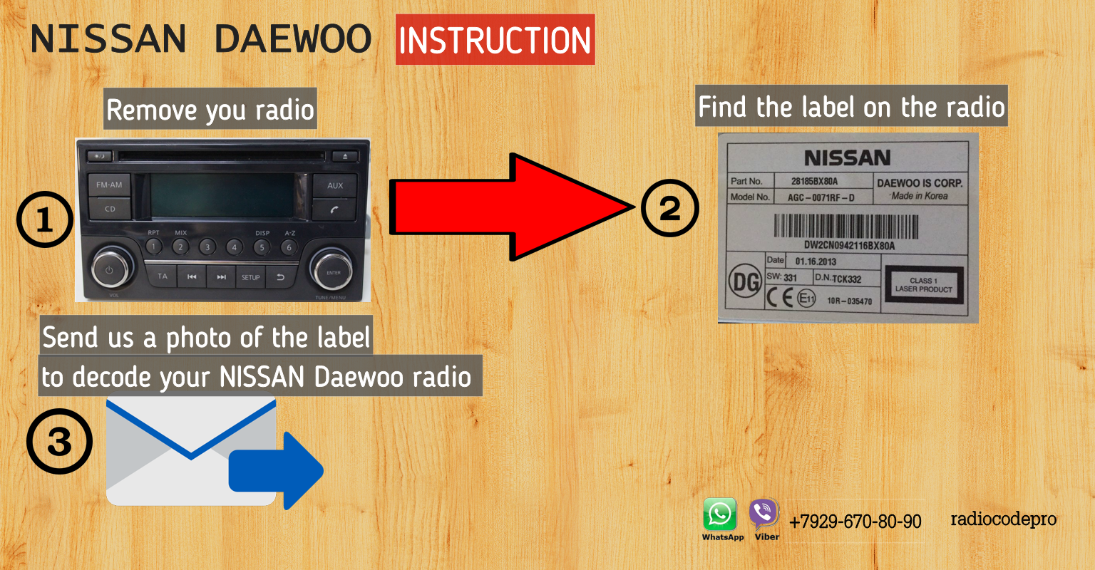 nissan daewoo unlock radio